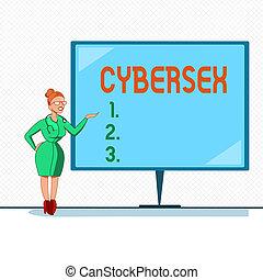 desgastar, showcasing, sexual, cybersex., negócio, foto,...