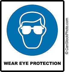desgaste, proteção olho
