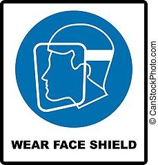 desgaste, um, proteção face