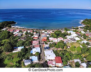 Guadeloupe drone aerial view - Deshaies