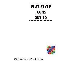 desherbar, conjunto, iconos, en, plano, style., grande, colección, boda, vector, símbolo, ilustración común