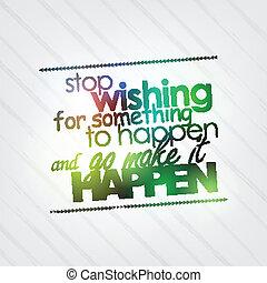 desiderando, happen, fermata, qualcosa