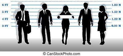 desiderato, affari persone, mugshot, lineup