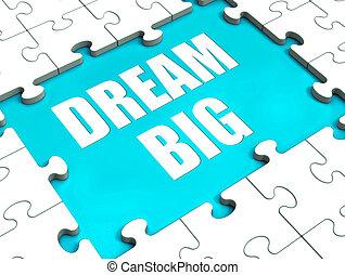 desiderio, enorme, grande, puzzle, ambizione, sogno, ...