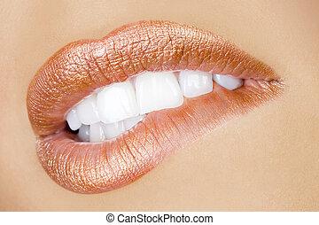 desiderio, sexy, labbra