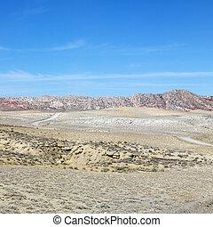 desierto, cottonwood, canyon.