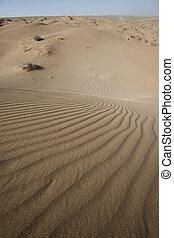 desierto, dunas, en, irán