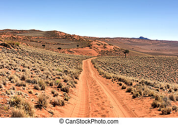 desierto, namibia, -, paisaje, namib, rand