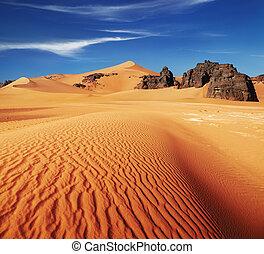 desierto, sáhara, argelia