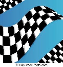 desig, bandera, vector, carreras, plano de fondo