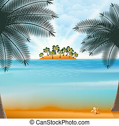 design., été, retro, vacances, fetes