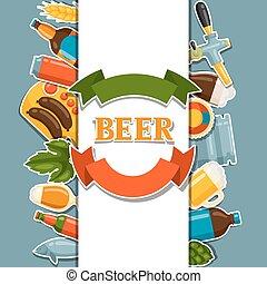 design, öl, objekt, klistermärken, bakgrund