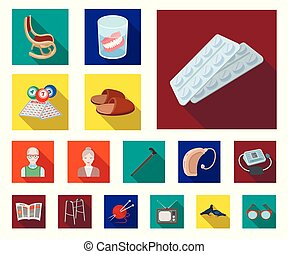 design., μικροβιοφορέας , ηλικία , illustration., συνταξιούχος , γριά , θέτω , ζωή , ιστός , στοκ , ανθρώπινος , συλλογή , περίοδοs , σύμβολο , απεικόνιση , διαμέρισμα