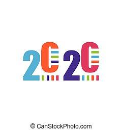 design 2020 logo vector colorful