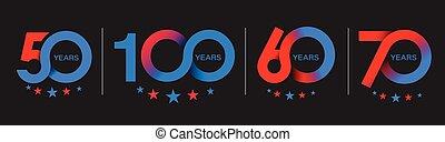 design., 50th, χρόνια , 100th, εορτασμόs , 70th, επέτειος , ...