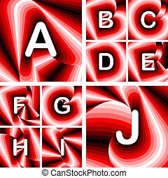 Design ABC letters from A to J