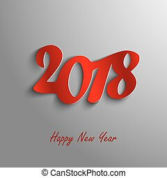Design abstract New Year wishes on gray background