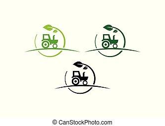 design., agricultura, agricultura, logotipo, trator