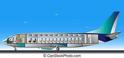 Design airplane interior