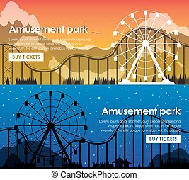 Design amusement park banners