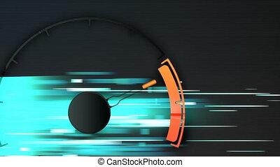Design analog speed meter