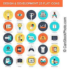 Design and Development Icons. - Abstract vector set of...