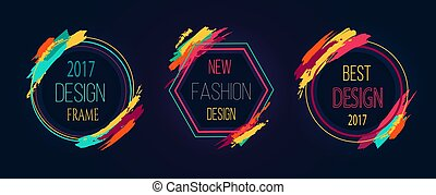 Design and New Fashion Frame Vector Illustration