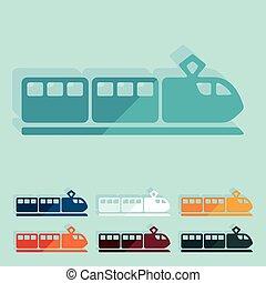 design:, apartamento, trem