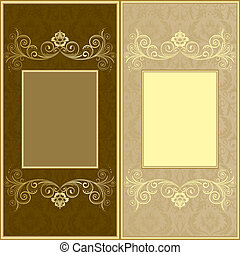 Design background - Brown and biege design background