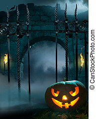 design background for Halloween party - design background...
