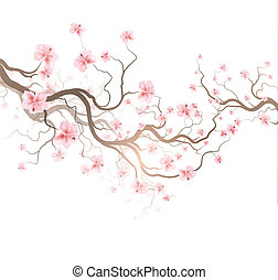 Sakura - Design Background With Sakura Tree
