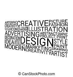 design background word on white vector