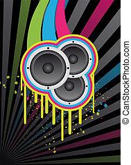 design, bakgrund, disko