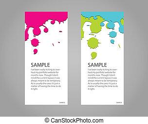 Design banner concept paint colorful
