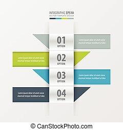 Design banner modern 4 color
