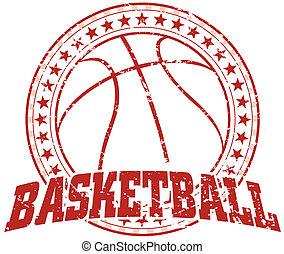 design, basketball, -, weinlese