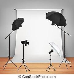 design, begrepp, ateljé fotografi