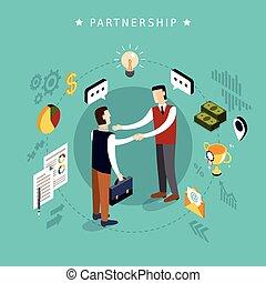 design, begriff, partnerschaft