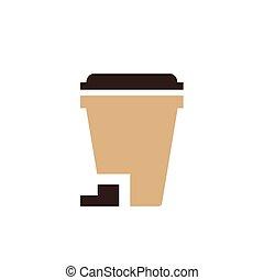 design bin icon brown color
