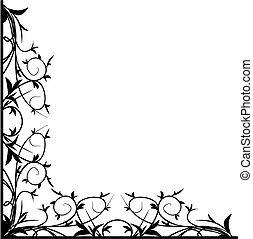 Design black floral corner