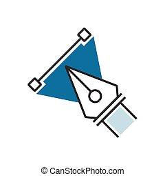 Design Blue pen tool icon