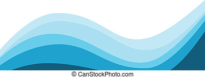 Design blue wave, Vector illustration background.