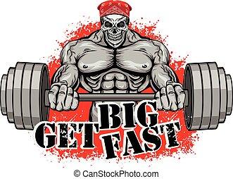 design, bodybuilder, t-shirt
