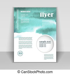 Design booklet watercolor background