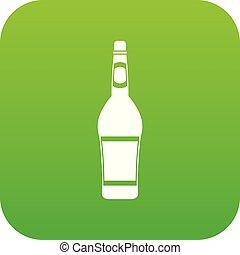 Design bottle icon digital green