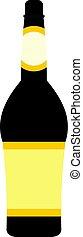 Design bottle icon isolated