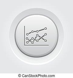 design., bottone, statistica, icon., grigio