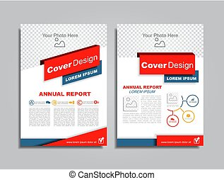 Design brochure layout with place for your data. Vector...