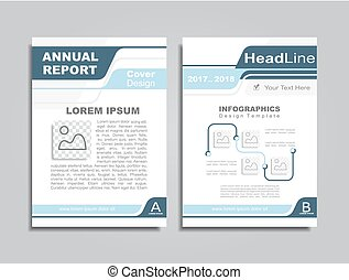 Design brochure layout with place for your text. Vector illustration.
