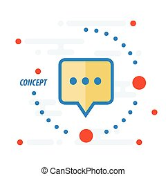 design bubbles talk concept